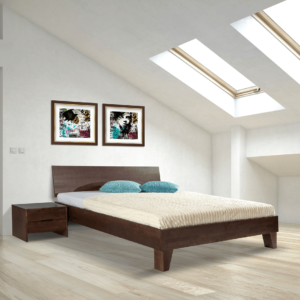 houten tweepersoonsbed simple