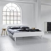 houten tweepersoonsbed twist wit
