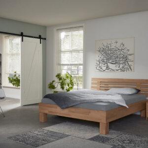 Houten bed Grid